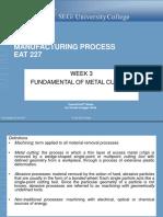 LMS Week 3 Fundamental of Metal Cutting