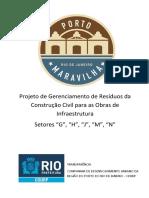 Projeto de Gerenciamento de Residuos Da Construcao Civil Para as Obras de Infraestrutura Setores G H J M N