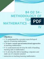 Teaching of Mathematics paper-4