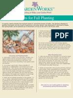 Bulbs for Fall Planting