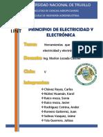 Herramientas Que Se Usan en La Electricidad y Electrónica