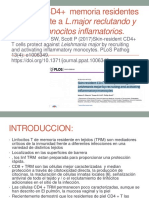 Linfocitos T CD4+  memoria residentes protegen frente a Leishmania major