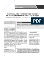 Compensación Por Tiempo de Servicios en La Ley Del Servicio Civil 30057 - Autor José María Pacori Cari