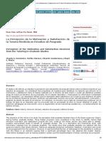 La Percepción de La Motivación y Satisfacción de La Tutoría Recibida en Estudios de Posgrado