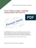 Phrasal Verbs CAE Advanced 2016 (CAE) (Nivel C1) Www.idmadrid.es