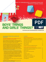 Boys' Things and Girls' Things?