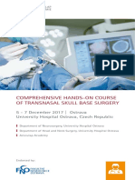 Comprehensive Hands on Course of Transnasal Skull Base Surgery Dec 2017 (1)
