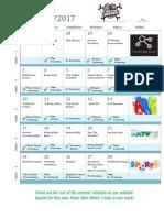 Activity Calendar Summer 2017