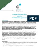 Chako San's Creative Community Grant Application Fall 2016