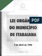 Lei Orgânica de Itabaiana