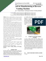 A New Approach in Manufacturing of Reverse Vending Machine