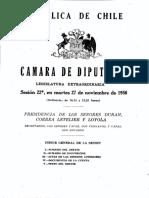 Diarios de Sesiones de La Cámara de Diputados - Sesión 27.a Extraordinaria en Martes 27 de Noviembre de 1956