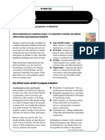 Ethical Issues - Tips for Conducting Program Evaluation Issue 12, Fact Sheet