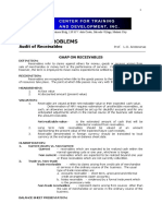 Audit of Receivables