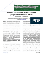 Study on Assessment of Physico chemical properties of Industrial wastes