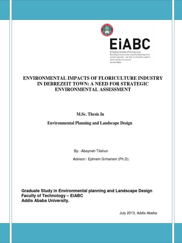 Dissertation environmental impact assessment