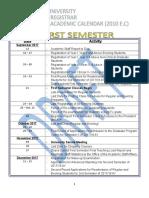 Academic Calender for 2017.18 AY Draft