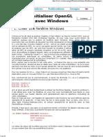 Initialiser OpenGL Avec Windows