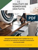 eBook - 11 Modalitati de Promovare GRATUITA