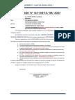 Informe de Pedido de Materiales de La Obras - 19 de Mayo