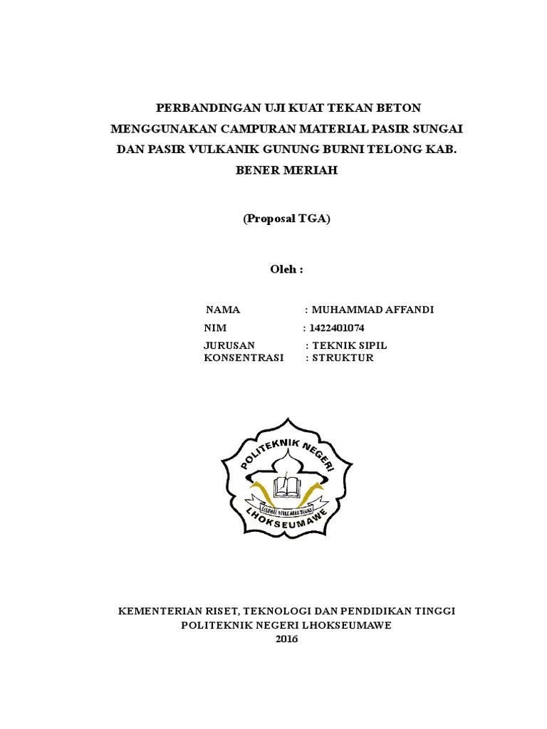 Conto Proposal Penelitian Beton