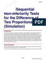 Group-Sequential Non-Inferiority Tests for the Difference of Two Proportions (Simulation)