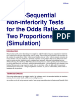 Group-Sequential Non-Inferiority Tests for the Odds Ratio of Two Proportions (Simulation)