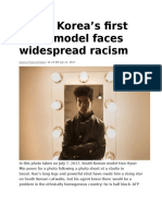 South Korea's First Black Model Faces Widespread Racism