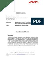 Presupuesto Regimiento Caballeria Quillota 2016