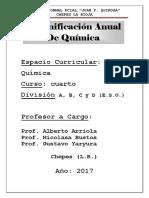 Planificación Anual de.quimica Escuela Normal