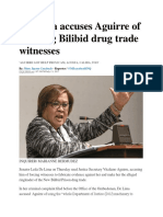 De Lima Accuses Aguirre of Coercing Bilibid Drug Trade Witnesses