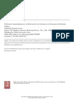 El Derecho Consuetudinario y La Doctrina de Los Juristas en La Formación Del Derecho Indiano