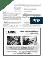 Decreto Supremo que declara de Interés Público la Lucha contra el Dengue