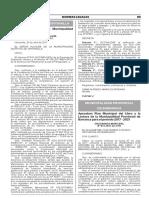 Aprueban Plan Municipal del Libro y la Lectura de la Municipalidad Provincial de Barranca para el periodo 2017 - 2021