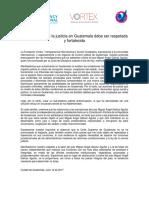 La Autonomía de La Justicia en Guatemala Debe Ser Respetada y Fortalecida