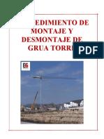 Procedimiento de Montaje y Desmontaje de Grua Torre _ Final