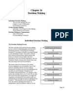 Organizational Effectiveness (Chapter 16 Decision Making) - David Cherrington