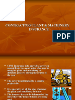 CONTRACTORS PLANT & MACHINERY INSURANCE Presentation