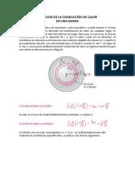 Ecuación de La Conducción de Calor en Una Esfera