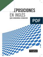 Las Preposiciones Ingles