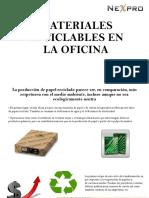 Materiales Reciclables en La Oficina