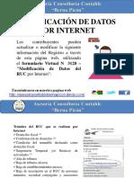 Modificacion de Datos Por Internet