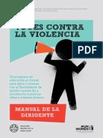Voces Contra La Violencia - Manual Para La Dirigente