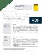 Determinación de La Edad Mediante La Radiología
