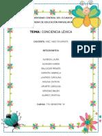Conciencia Lexica