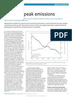 Reaching Peak Emissions