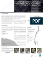 Documentación 3D fotogramétrica de restos arqueológicos en la cueva de Intimachay (Amazonas, Perú)