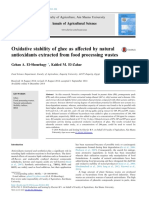Oxidative stability of ghee as affected by natural antioxidants extracted from food processing wastes