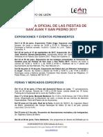 Programa Fiestas San Juan y San Pedro 2017