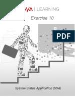 Exercise 10 System Status Application V01 IP Office Avaya